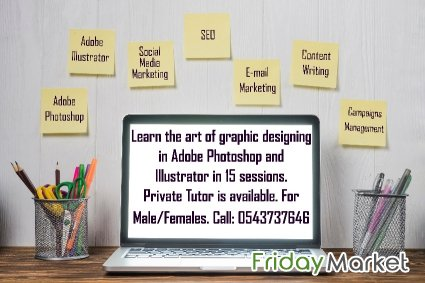 Well Experienced Tutor For Graphic Designing And Digital Marketing Jeddah Saudi Arabia