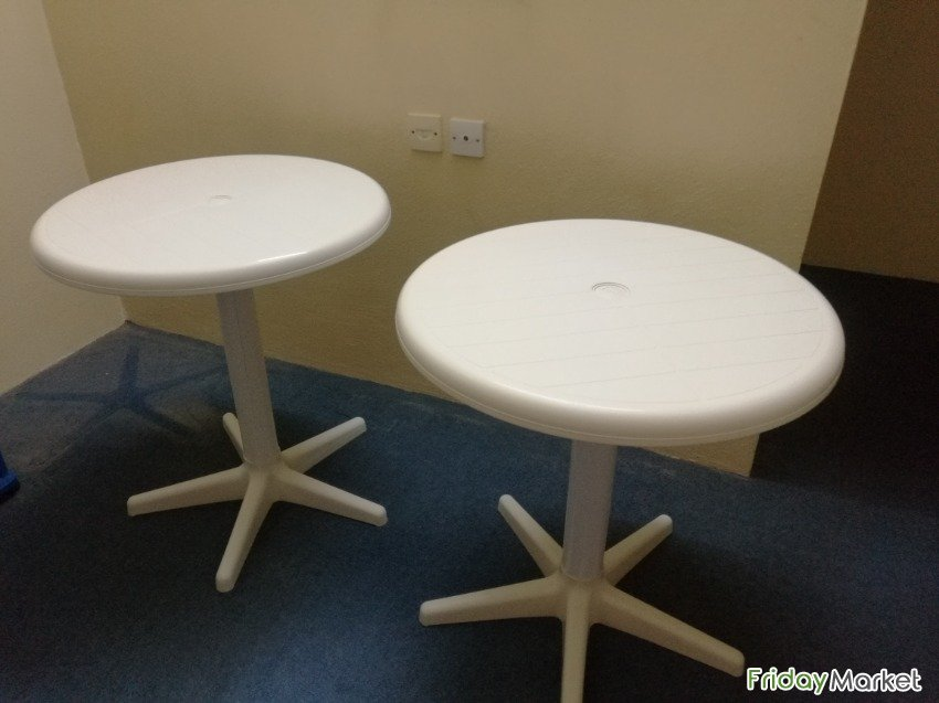 Plastic Tables, Round Top, All Purpose (Urgent, Final Exit) Riyadh Saudi Arabia