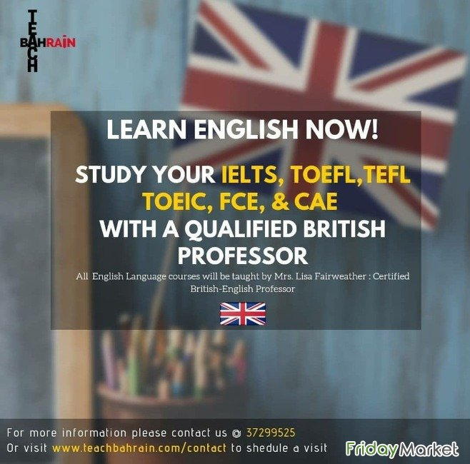 IELTS & Spoken English Classes W (British Teacher) Dammam Saudi Arabia